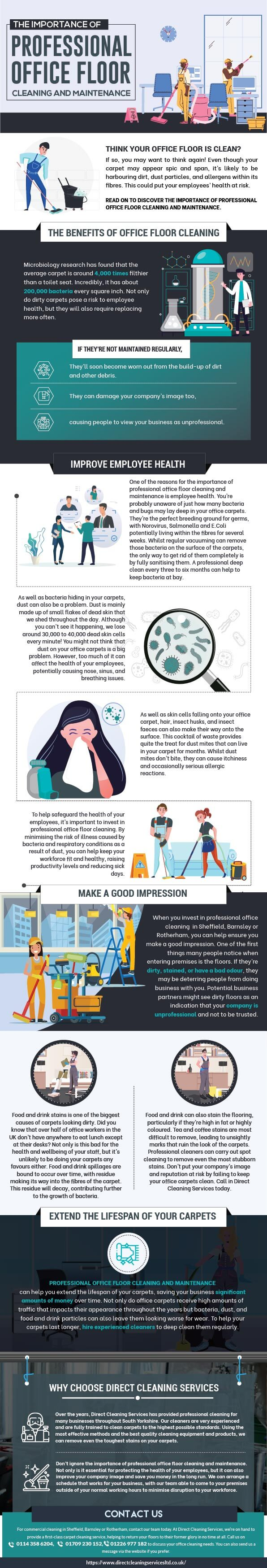 THE IMPORTANCE OF PROFESSIONAL OFFICE FLOOR CLEANING AND MAINTENANCE [INFOGRAPHIC]